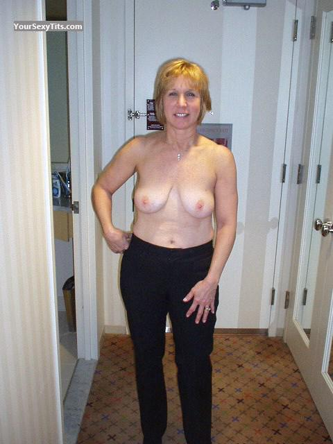 Big Tits Of A Friend Topless Natural Tits